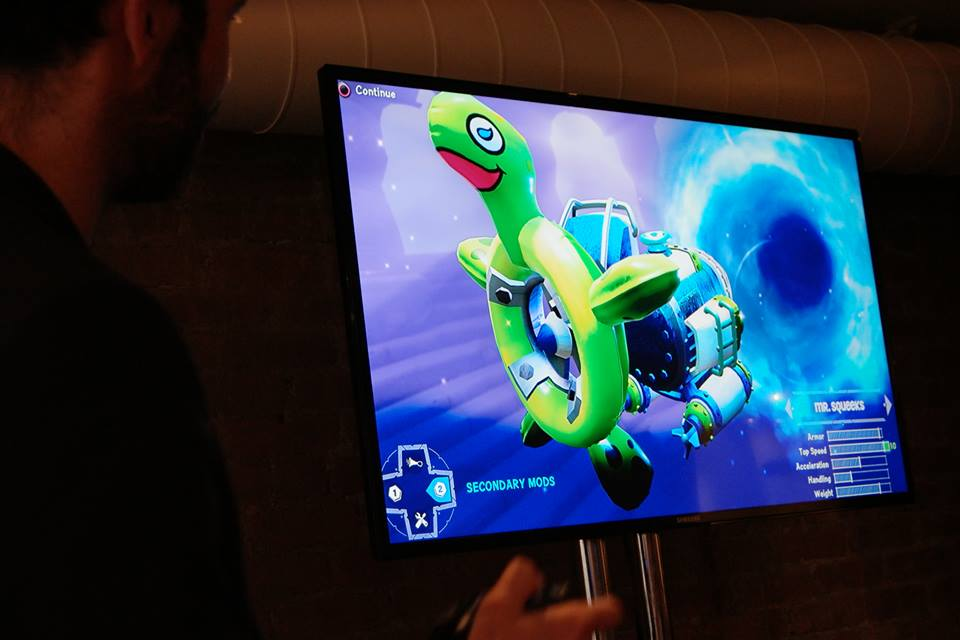 Skylanders Superchargers Mr Squeeks Mod on Divebomber Submarine in Game