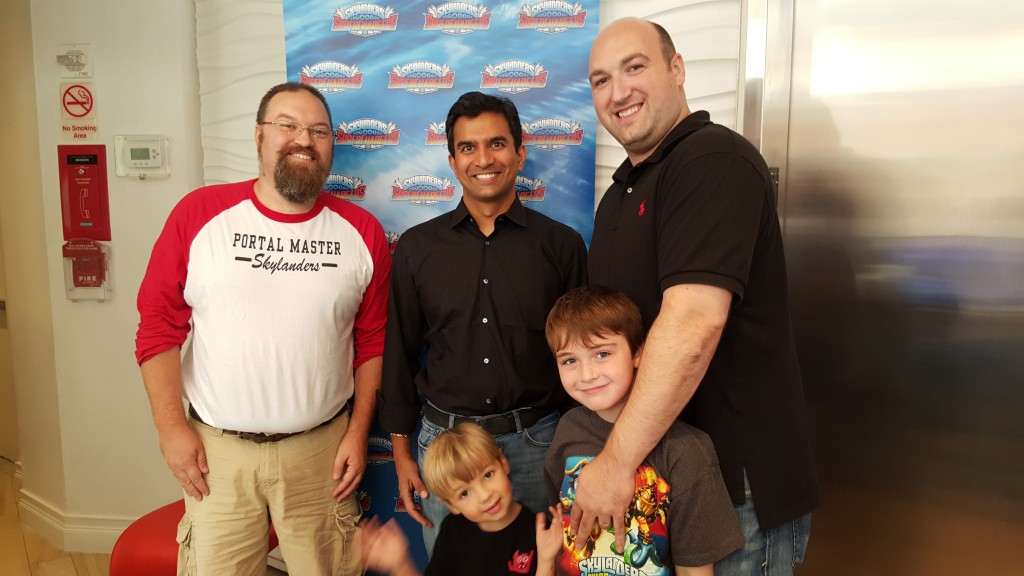 Drew, Guha Bala from Vicarious Visions, Adam plus Andrew and Marc