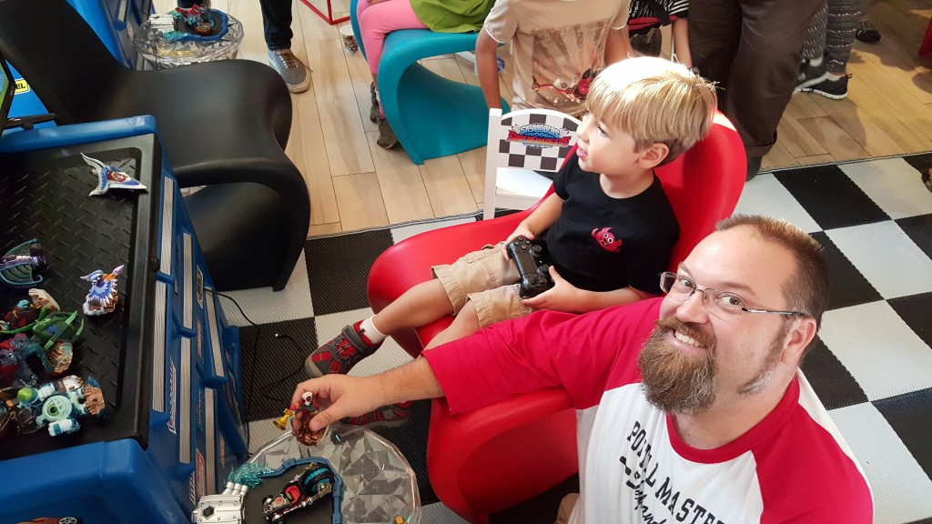 Drew and Andrew Playing Skylanders SuperChargers